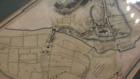 A map of St Albans from approximately 250 years ago