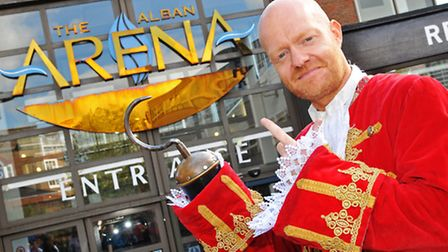 Eastenders star Jake Wood is starring as captain hook in this years panto at the Alban Arena