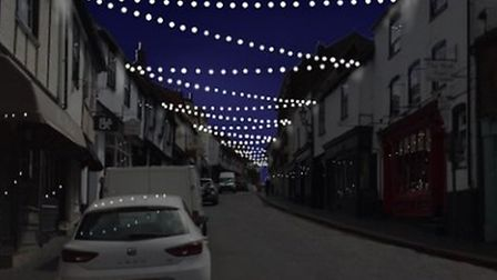 An image from company, The Christmas Decorators, showing how the proposed lights will look in George