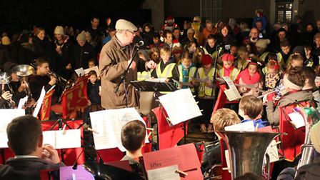 Hundreds of people gathered in the centre of Somersham for the annual Christmas lights switch-on.
