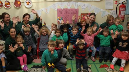 Therfield Pre-school celebrate outstanding Ofsted