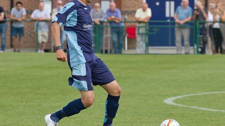 Remy Gordon made his first St Neots Town start since suffering a broken leg in August. Picture: CLAI