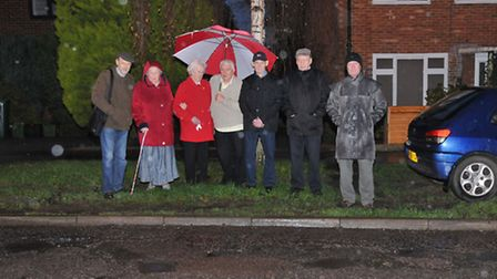 Phil Fryer (left) and other concerned residents have been raising the pothole problem with the counc