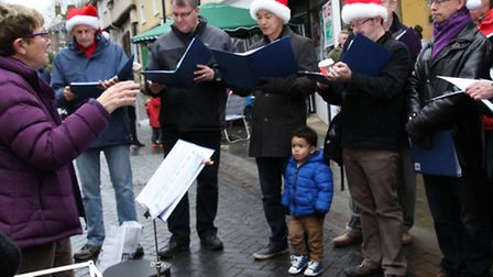 The GuySing group assisted in promoting the spirit of Christmas. PICTURE: Clive Porter.