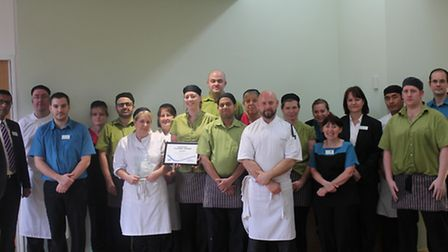 the catering team at Hinchingbrooke Hospital