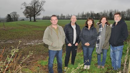 Redbourn residents Ford Shackcloth, Ray and Linda Snow, Lisa and David Mitchell are upset about the