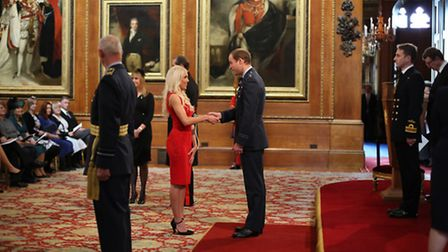 Zoe Jackson from St Albans is made an MBE (Member of the Order of the British Empire) by Prince Will