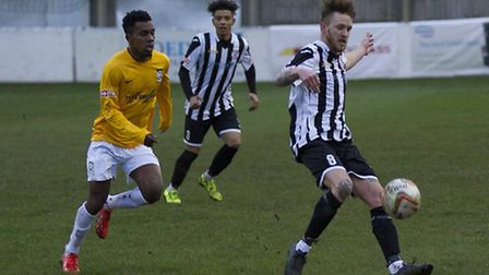 Jared Cunniff scored one of the goals that kept St Ives Town on top of Southern League Division One