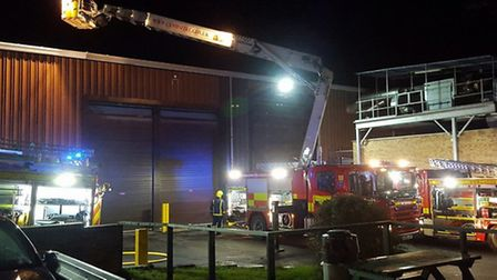 Firefighters attended a blaze at a factory in St Peter's Road, in Huntingdon.