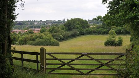 Green Belt land overlooking Chiswell Green