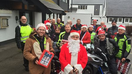 The Royston & District Motorcycle Club have been doing a Cracker Run to Meldreth Manor school for ar