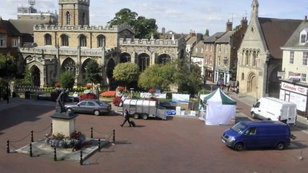 Volunteers will hand out items to the homeless in Huntingdon's Market Square