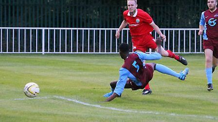 Lee Close scored three against Oxhey Jets. Picture: JIM WHITTAMORE