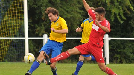 Charlie Gould scored one and made another as Harpenden reached the semi-final of the Centenary Troph