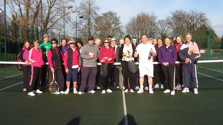 Participants in Royston Tennis Club's Christine Knight Trophy