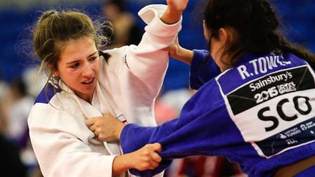 Amy Platten in action in the final against Rachel Towle from Scotland. Picture: MIKE VAREY