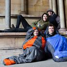 Former participants of the St Albans Abbey Sleepout