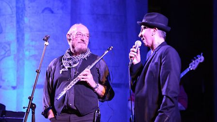 Ian Anderson with Marc Almond at St Albans Abbey. Photo courtesy of Craig Shepheard