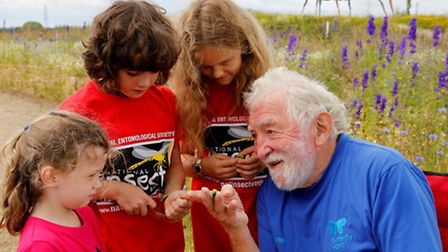 Prof David Bellamy kicked off Butterfly World's bug hunt bonanza in St Albans as part of National In
