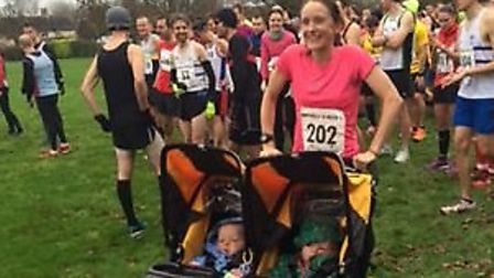 The twins became record-breakers at the Bassingbourn 10 mile race.