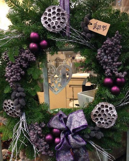 One of Flower Box's eye-catching natural wreaths