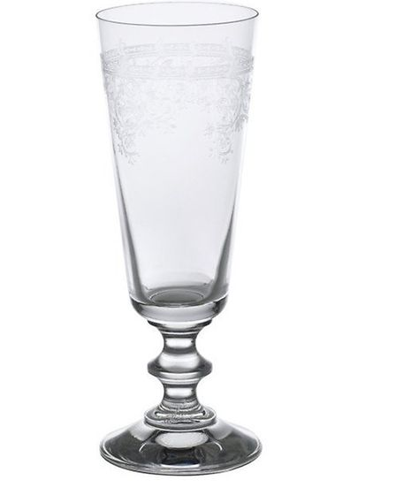 What's the essential ingredient of a French Christmas? Champagne of course! Serve it in these engrav