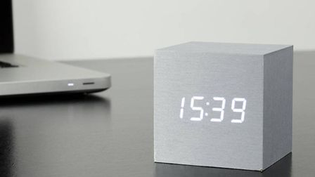 Finger-clicking good: this bedside clock takes the effort out of hitting the snooze button