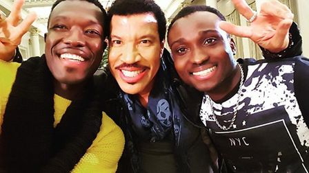 Reggie and Bolli with Lionel Richie