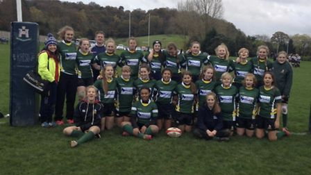 Hertfordshire's U15 side which included four from Harpenden