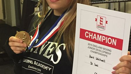Harli Whitwell fights for a second national title.