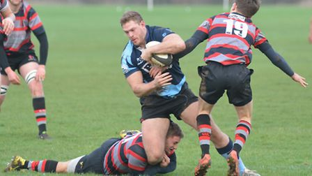 Adam Peel scored two tries for St Neots in their defeat against Dunstablians. Picture: HELEN DRAKE