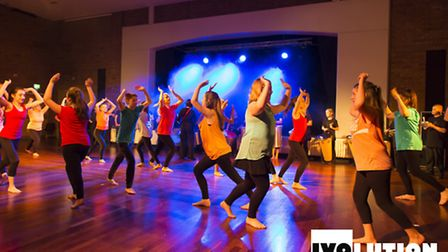 St Ivo School pupils performing in its annual dance show. Photo by Chris Page