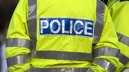 Police on the A142 at Chatteris following reports of people jumping out the back of a lorry