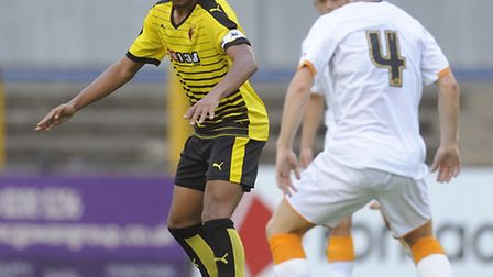 Jorell Johnson who has joined St Albans on loan from Watford for a month. Picture: ALAN COZZI/WATFOR