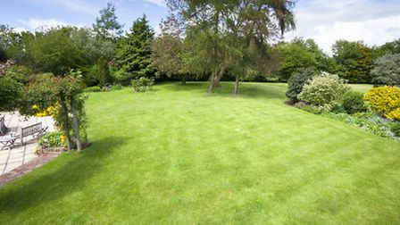 Sweeping lawns at this home of the week