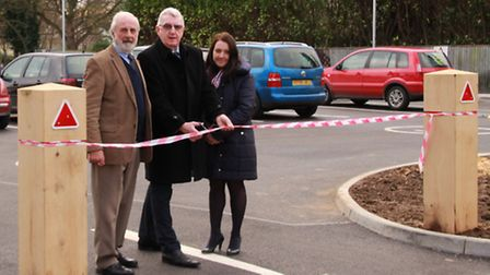 Melbourn Parish Council chairman Bob Tulloch, Melbourn Car Park committee chairman Mike Linette and
