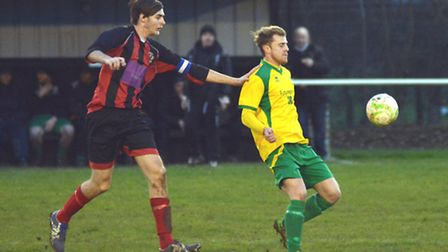 Action from Huntingdon Town's home defeat at the hands of Northampton Spencer. Picture: HELEN DRAKE