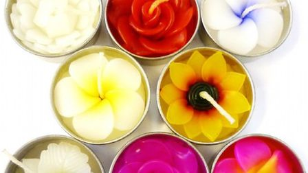 Blossom scented tealight candles