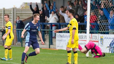 St Neots Town striker Tom Meechan begins a three-game ban tonight. Picture: CLAIRE HOWES