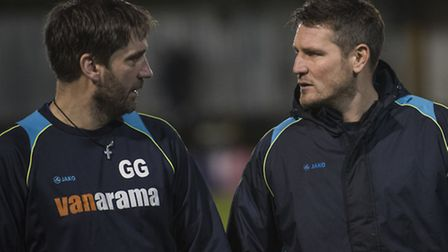 St Albans City joint-managers, Graham Golds and Jimmy Gray resigned after the Lowestoft defeat. Pict