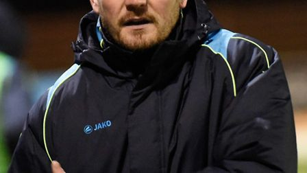 Jimmy Gray, moments before he and Graham Golds resigned as St Albans City managers. Picture: BOB WAL