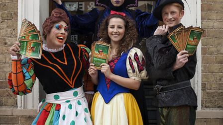 The cast of Snow White outside the Commemoration Hall