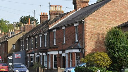 Houses vary in age and style in this part of St Albans