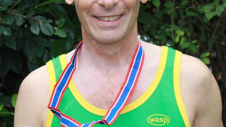 Bruce Grimley won the M60 age group at the Eastern Counties Veterans' Championships.