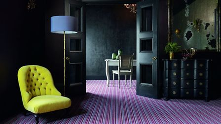 Mississippi Red Plum carpets run throughout this striking room design. (photo: PA Photo/Handout)