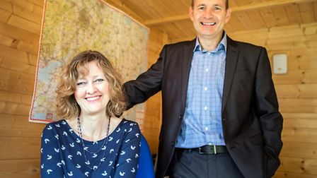St Albans-based couple Chris Burgess and his wife Judy Crickmer, celebrate 10 years at the HR Dept