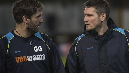 Former joint-managers of St Albans City, Graham Golds and Jimmy Gray. Picture: BOB WALKLEY