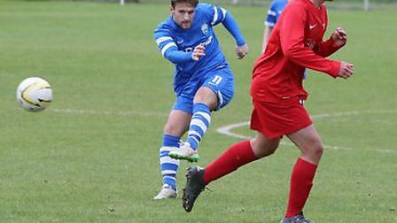 Charlie Smith had a number of free kicks for Colney. Picture: JIM WHITTAMORE
