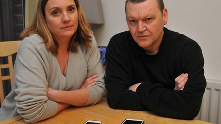 Royston residents Anne Walls and Glen Stanway have lost reception on their EE networks around Roysto