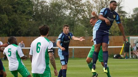 Ryan Frater (right) is back at St Neots Town. Picture: CLAIRE HOWES